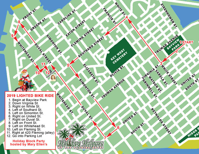 Key West Christmas Parade 2019.Key West Lighted Bike Ride Wesley House Family Services